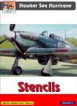 1-48-Hawker-Sea-Hurricane-stencils-set-for-3-a-c