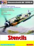1-72-Messerschmitt-Bf-109G-K-Stencils-sets-for-5-different-a-c-manufacturers
