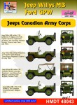 1-48-Willys-Jeep-MB-Ford-GPW-Canadian-Army-Corps