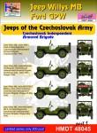 1-48-Willys-Jeep-MB-Ford-GPW-Czechoslovak-Army-Jeeps-Pt-1