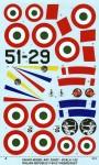 1-32-REPUBLIC-F-84-G-THUNDERJET-Italian-Insigna-all-film-decal-double-sheet-Hobby-Boss