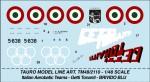 1-48-AEROBATIC-TEAM-GETTI-TONANTI-BLUE-THRILL-For-Republic-F-84F-Thunderstreak-All-film-decal