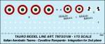 1-72-AEROBATIC-TEAM-CAVALLINO-RAMPANTE-for-Canadair-CL-13-Sabre