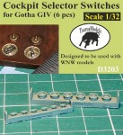 1-32-Cockpit-Selector-Switches-for-Gotha-IV-6pcs