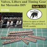 1-32-Valves-Lifters-Timing-Gear-for-Mercedes-DIV