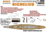 1-350-WWII-French-Navy-Richelieu-Battleship-for-Trumpeter-05311
