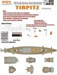 1-700-WWII-German-Navy-Tirpitz-Battleship-for-Trumpeter-05712-and-65289