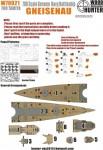 1-700-WWII-German-Navy-Genisenau-Battleship-for-Tamiya-77520-and-65289