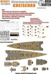 1-700-WWII-German-Navy-Genisenau-Battleship-for-Tamiya-77520-and-65289