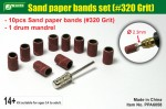 Sand-paper-bands-set-320-Grit-brusne-kotoucky