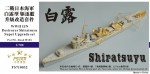 1-700-WWII-IJN-Destroyer-Shiratsuyu-Super-Upgrade-set-For-Pit-Road-W135