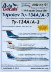 1-144-Decals-Tu-134A-A-3-and-paint-mask-ZVE