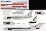 1-200-Boeing-727-200-737-WESTERN-Airlines-Polished-fuselage