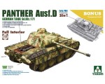 1-35-WWII-German-Sd-Kfz-171-Panther-Ausf-D-Early-Mid-production-con-interni-2-in-1