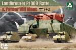 1-144-Landkreuzer-P1000-Ratte-and-Panzer-VIII-Maus-1+2