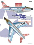 RARE-1-48-F-86D-2-469-FIS-Commander-1954-a-VERY-colorful-jet-with-red-white-checkerboa