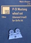 1-72-P-51-Mustang-wheel-set-diamond-tread-AIRF