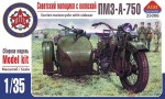 1-35-Soviet-motorcycle-with-sidecar-PMZ-A-750