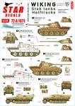 1-72-Wiking-2-SS-Pz-Regient-5-Stab-tanks-and-Halftracks-Panthers-Befehl-Panthers-and-Halftracks