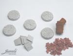 28mm-1x5-Bases-bricksn-plates-diameter-25mm