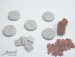 28mm-1x5-Bases-bricksn-plates-diameter-25mm
