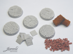 28mm-1x5-Bases-bricksn-plates-diameter-32mm