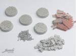 28mm-1x5-Bases-cobblen-plates-diameter-25mm