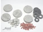 28mm-1x5-Bases-hexan-bricks-diameter-32mm