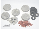 28mm-1x5-Bases-hexan-bricks-diameter-32mm