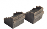 1-87-Railway-buffer-stop-old-wood-2-pcs