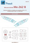 1-72-Canopy-mask-Messerschmitt-Me-262B-AIRFIX