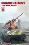 1-72-German-WWII-E-50-medium-panzer-with-128mm-flak-40-gun
