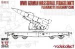 1-72-WWII-German-Wasserfall-Ferngelenkte-Flarakete-Railway-Car