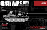 1-72-Germany-WWII-E-75-Heavy-Tank-with-88-Gun