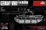 1-72-Germany-WWII-E-50-Medium-Tank-with-88-Gun