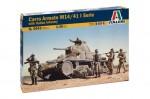 1-35-CARRO-ARMATO-M14-41-I-SERIE-with-Italian-Infantry
