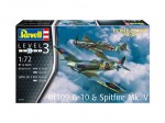 1-72-Bf109G-10-and-Spitfire-Mk-V