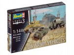 1-144-US-Army-vehicles-WWII-M4-Sherman-a-M8-Greyhound-CCKW-Truck