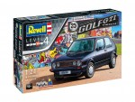 1-24-35-Years-VW-Golf-1-GTi-Pirelli-Model-Set-model+barvy+lepidlo+stetec