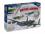 1-72-100-Years-RAF-British-Legends-Model-Set-model+barvy+lepidlo+stetec