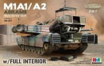 1-35-M1A1-A2-Abrams-w-Full-Interior-2-in-1