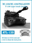 RARE-1-35-M-108-M109-PALADIN-T-136-type-track-early