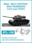 RARE-1-35-M46m-M47-PATTON-M26-PERSHING-track-type-T84E1