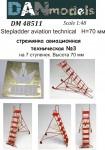 1-48-Stepladder-aviation-technical-3-7-steps-height-70mm