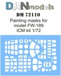 1-72-Painting-mask-for-FW-189-for-ICM-kit