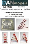 1-72-Stepladder-aviation-technical-2-5-steps-height-35mm