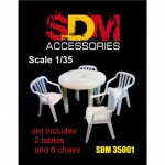 1-35-Accessories-for-diorama-Table-and-chairs