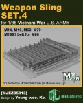 1-35-Weapon-Sling-SET-4-for-VIETNAM-War-U-S-ARMY