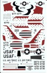 1-72-USAF-Thunderbirds-Republic-F-84F-Thunderstreak-decals-for-Airfix