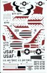 1-72-USAF-Thunderbirds-Republic-F-84F-Thunderstreak-decals-for-Airfix